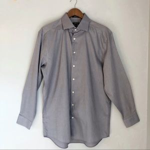 Claiborne Men's Grey Wrinkle Resistant Dress Shirt